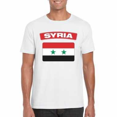 T shirt wit serie vlag wit heren