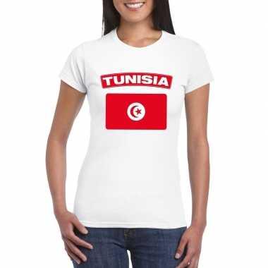 T shirt wit tunesie vlag wit dames