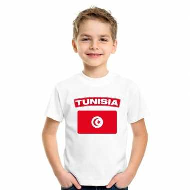 T shirt wit tunesie vlag wit jongens meisjes