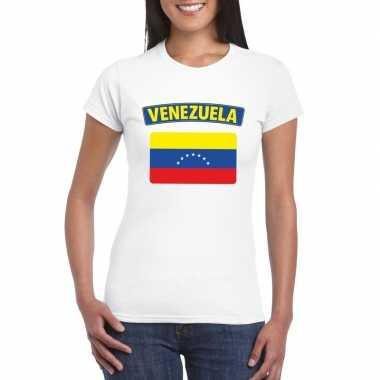 T shirt wit venezuela vlag wit dames
