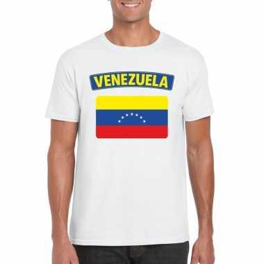 T shirt wit venezuela vlag wit heren