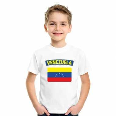 T shirt wit venezuela vlag wit jongens meisjes