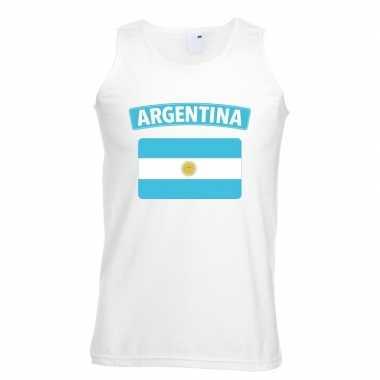 Tanktop wit argentinie vlag wit heren