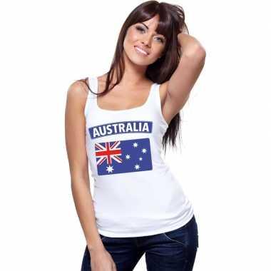 Tanktop wit australie vlag wit dames