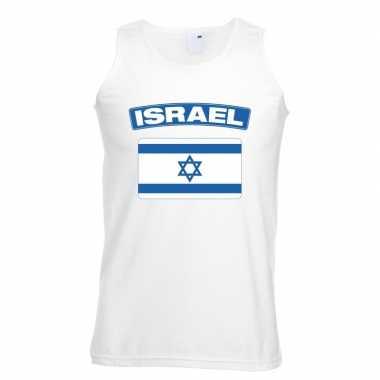 Tanktop wit israel vlag wit heren