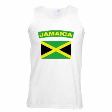 Tanktop wit jamaica vlag wit heren