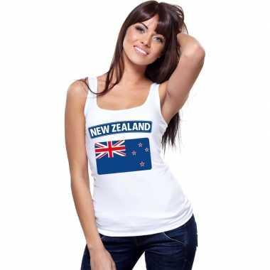 Tanktop wit nieuw zeeland vlag wit dames