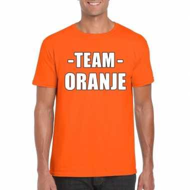 Team shirt oranje heren bedrijfsuitje