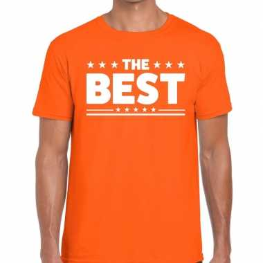 The best tekst t shirt oranje heren