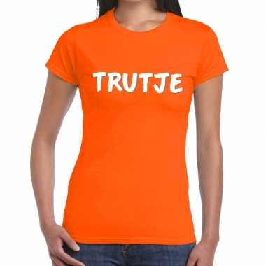 Trutje fun t shirt oranje dames