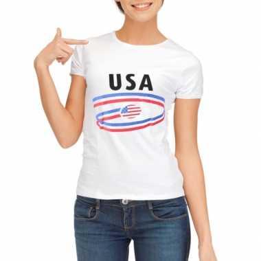 Usa vlaggen t shirts dames