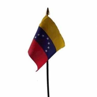 Venezuela luxe zwaaivlaggetje polyester