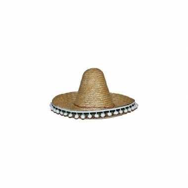 Verkleed sombrero naturel 60 mexico volwassenen