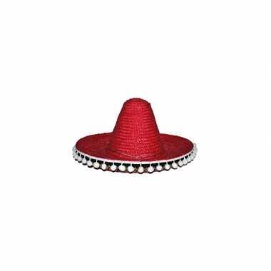 Verkleed sombrero rood 60 mexico volwassenen
