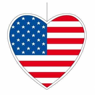 Versiering hart amerikaanse vlag 14