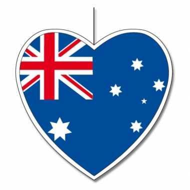 Versiering hart australische vlag 30