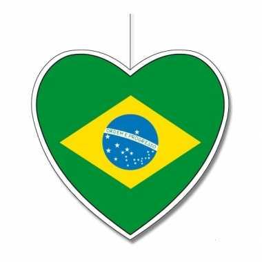 Versiering hart braziliaanse vlag 30