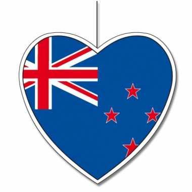 Versiering hart nieuw zeelandse vlag 30