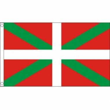 Vlag baskenland ophangringen 90 150