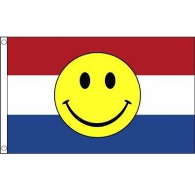 Vlag nederland smiley 90 150