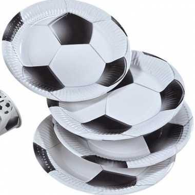 Voetbal borden papier 8 stuks