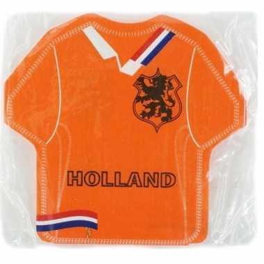 Voetbal shirt servetten oranje