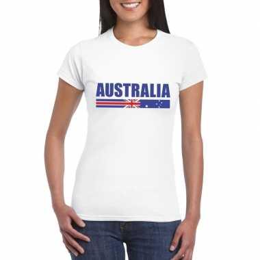 Wit australie supporter t shirt dames