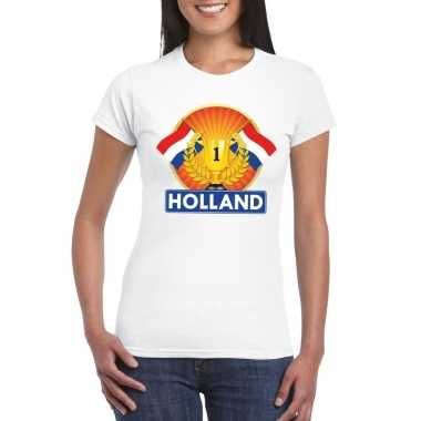 Wit holland supporter kampioen shirt dames
