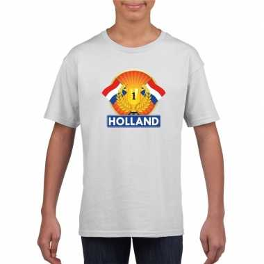 Wit holland supporter kampioen shirt kinderen