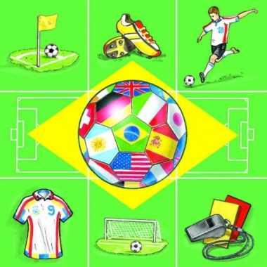 Wk voetbal servetten 20 stuks