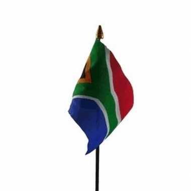 Zuid afrika luxe zwaaivlaggetje polyester
