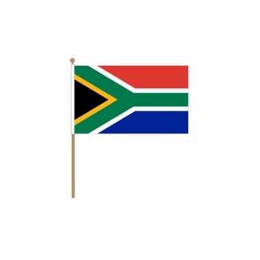 Zuid afrika vlag houten stok