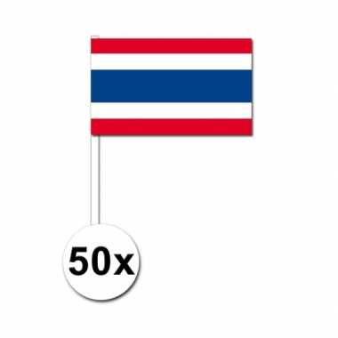 Zwaaivlaggetjes thaise vlag 50 stuks