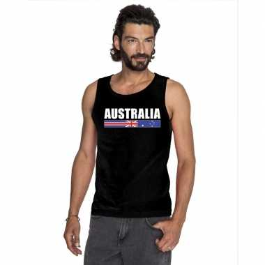 Zwart australie supporter singlet shirt/ tanktop heren
