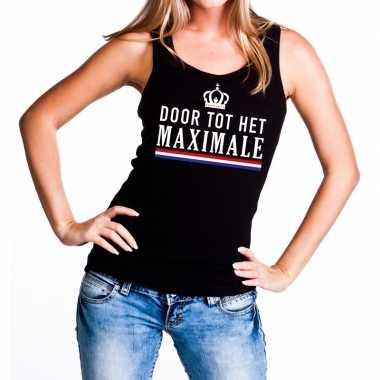 Zwart door tot maximale tanktop / mouwloos shirt dames
