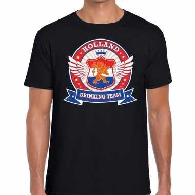 Zwart holland drinking team rwb t shirt heren