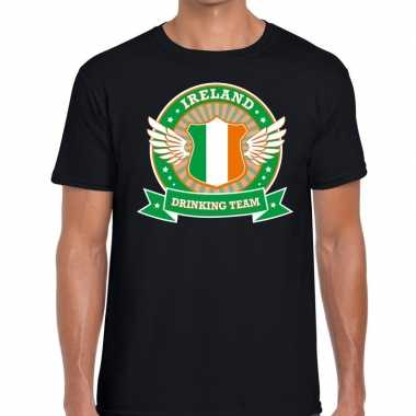 Zwart ireland drinking team t shirt heren