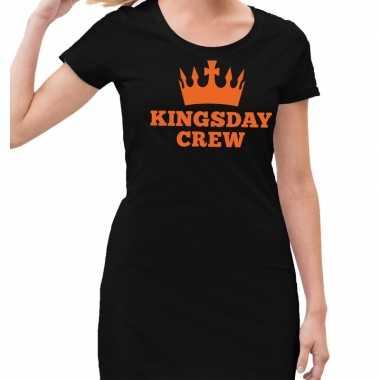 Zwart kingsday crew jurkje dames