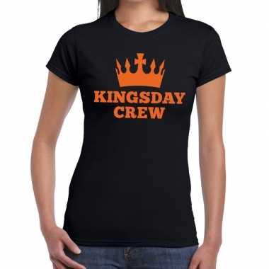 Zwart kingsday crew t shirt dames