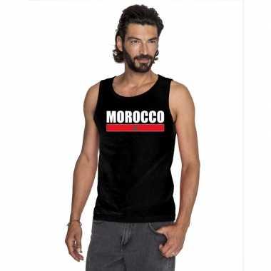 Zwart marokko supporter singlet shirt/ tanktop heren