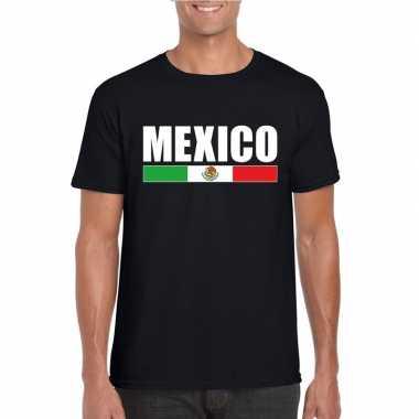 Zwart mexico supporter t shirt heren