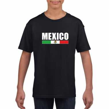 Zwart mexico supporter t shirt kinderen