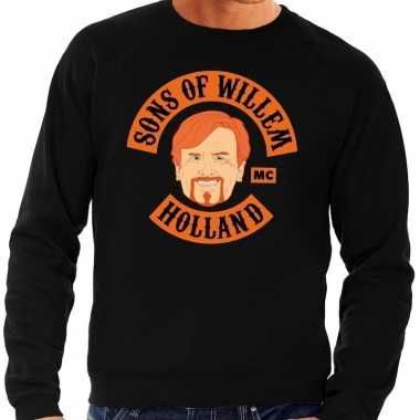 Zwart sons of willem sweater heren