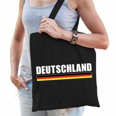 Zwarte katoenen duitsland tas deutschland