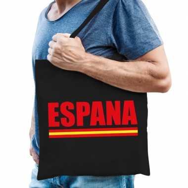 Zwarte katoenen spanje tas espana