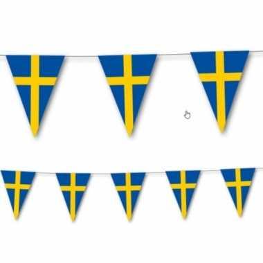 Zweedse vlag slingers 3,5 meter