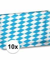 10x papieren bordjes blauwe witte ruit 17 24 bierfeesten oktoberfest feestartikelen