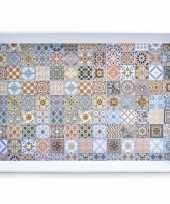 1x dienbladen melamine mozaiek 50 35
