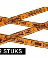 2x halloween thema markeerlint zombie zone