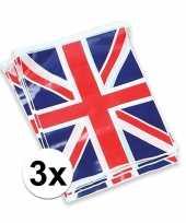 3x engelse vlaggenlijnen 7 meter